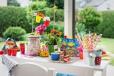 Sweet Table, Dessert Tisch ,Süßigkeiten, Kinderparty, children party, Fruchtzwerge Party, Fruchtzwerge, Kinder Rezepte, kids recipes, Fruchtzwerge Torte, Fruchtzwerge Eis, Torte, Eis, ice cream, cake, sweets