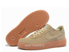Nike Air Force 1 Basse Suede Beige Chaussure pour Homme Nike Air Force 1  Soldes