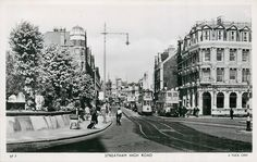 Streatham High Road c1951 High Road, Croydon, Old London, Local History, Old Pictures, Nostalgia, The Past, Street View, England