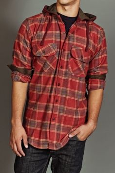 Grizzly USA Edison Hooded Flannel