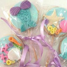 Resultado de imagen para galletas decoradas de la sirenita