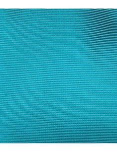 Men's Plain Turquoise Ottomon 100% Silk  Tie