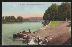 AK Agen, aan de Garonne, vrouwen aan de was.