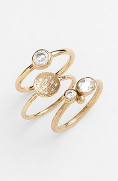 Melinda+Maria+'Aurora'+Stackable+Rings+(Set+of+3)+available+at+#Nordstrom
