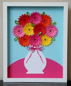 Gerber Daisies in a Vase by studiohappynest on Etsy, $60.00