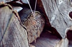 Silver dream catcher for protection against bad dreams