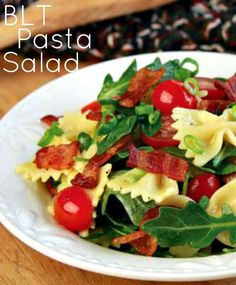 BLT Pasta Salad ...recipe from Jills Junction