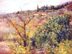 View of Fiesole - William Merritt Chase