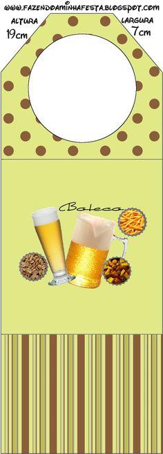Cerveza, papas fritas y maní: tarjetería para imprimir gratis. | Ideas y material gratis para fiestas y celebraciones Oh My Fiesta!