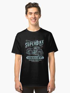 d5fd18af7db936 Vintage Motorcycle Superbike Birmingham UK | Classic T-Shirt