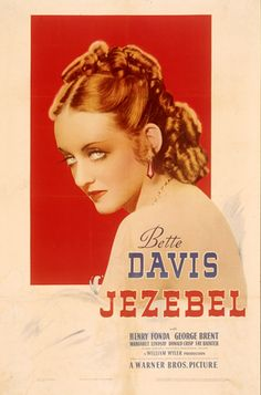 Jezebel (1938). A haughty headstrong Southern Belle in Antebellum Louisiana loses her fiance due to her stubborn vanity and pride and vows to get him back. Bette Davis and Henry Fonda. She is such a bitch in this movie - it's great!