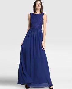 Vestido de mujer Fórmula Joven con encaje en color azul marino