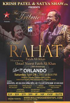 Rahat Fateh Ali Khan Remembering Ustad Nusrat Fateh Ali Khan - Orlando in Orange Country Convention Center Linda Chapin Theatre, Orlando, FL