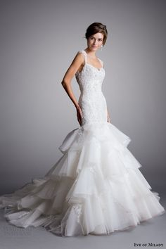 eve of milady wedding dresses 2014 12015 mermaid gown with straps style 1528