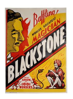 Baffling! World's Greatest Magician. Blackstone.