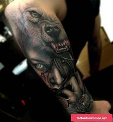 Wolf tattoos are still one of the most popular tattoo ideas for men. Wolf tattoos have many meanings. Some men choose wolf tattoos because they symbolize strength, freedom and the instinct of primitive animals Wolf Tattoo Design, Tattoo Designs, Tattoo Ideas, Girl Face Tattoo, Girl Tattoos, Tattoos For Guys, Tattoos For Women, Men Tattoos, Celtic Tattoos