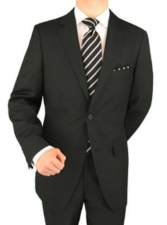 Presidential Suit Italian Modern Fit 2 Button Black StripePresidential suit. This suit is exclusively hand finished by the most excellent craftsmen at lowest online price. Please choose the size you normally wear in designer Men's suits. JACKET: Beautiful single breasted 3 pockets outside 2 with flaps, notch lapel, 4-button vented sleeves, matching inside full lining, dual side vents. PANTS: Single pleated pants, lined to just below knee 2 back p...