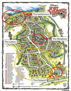 Annotated Map of Disney's Fort Wilderness Resort