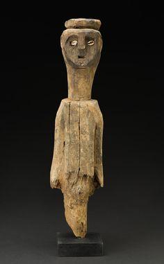 Bocio - Ewe People - Togo, Mid. 20th C. Wood, shells, natural materials 48.3 x 12.7 x 7.6 cm