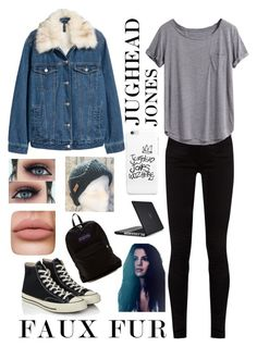 """""""Jughead Jones Girl Version Inspired Outfit (Faux Fur)"""" by veofficial ❤ liked on Polyvore featuring Speck, Gucci, Converse and JanSport"""