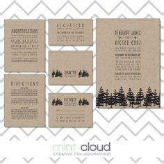 DIY Printable Wedding Invitation Rustic The by MintCloudLLC