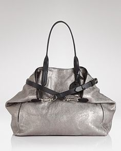 Cole Haan Tote - Metallic Leather Crosby | Bloomingdale's