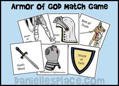 Armor of God Match Game for Sunday School from www.daniellesplace.com