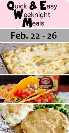 Quick & Easy Weeknight Meals - http://www.mommysnotperfect.com