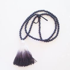 Black ombré tassel necklace by BOHO BEADS