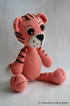 Tigrík /Amigurumi Crochet Tiger.  Created by https://www.facebook.com/pages/H%C3%A1%C4%8DkovanieCrochet-by-Zdenka/710199975743896?ref=aymt_homepage_panel
