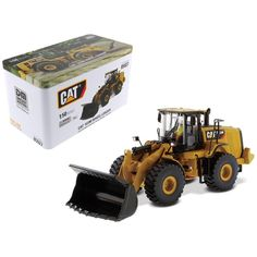 CAT Caterpillar 972M Wheel Loader with Operator High Line Series 1-50 Diecast Model by Diecast Masters