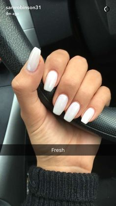 Image uploaded by Bree. Find images and videos about beauty, white and nails on We Heart It - the app to get lost in what you love. Acrylic Nails Coffin Short, Simple Acrylic Nails, Summer Acrylic Nails, Best Acrylic Nails, Simple Nails, Squoval Acrylic Nails, Acrylic Nail Designs, Summer Nails, Aycrlic Nails
