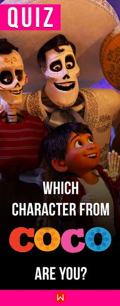 """Pixar Quiz: Which Character From """"Coco"""" Matches Your Personality? Disney Quiz, Disney Test, Disney Facts, Disney Trivia, Disney Pixar, Disney Movies, Quizzes Buzzfeed, Buzzfeed Test, Halloween Costume History"""