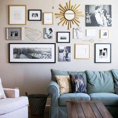 DIY living room gallery wall idea for living room