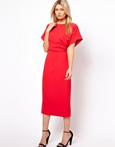 5eb463aced52a8 Ted Baker Pleated Side Midi Dress