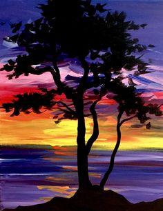Beach Tree Serenity at Merchant - Paint Nite Events