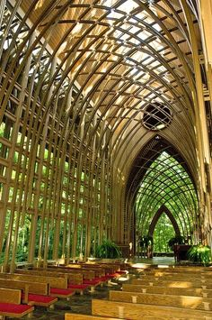 ] : Mildred B. Cooper Chapel  (Bella Vista) / Fay Jones architect   #legno