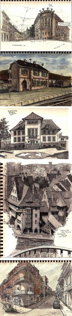 Sketchbook. WOW. Cityscapes in detail. Rob Carey