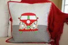 My Go-Go Life: My Christmas Hippie Chic Bus Pillow!!!!