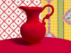 Squint - Grecian Jug in red velvet   Global Colour research  Photo: Yeshen Venema