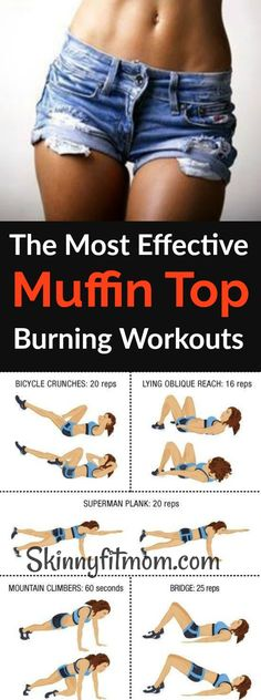 These effective muffin top workouts will eliminate love handles fast in a week! #muffintopworkout #fitness