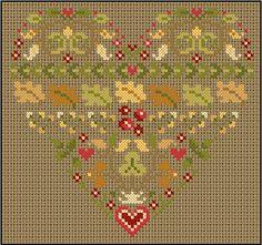 Anne les petites croix autumn heart free chart