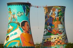 bungee jump between the Orlando Towers in Soweto SA