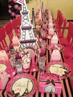 Just like in the movie bridesmaids you could have a Paris team shower Table at a Paris Party Paris Themed Birthday Party, 13th Birthday Parties, Birthday Party Themes, Girl Birthday, Movie Party, Party Time, Barbie Em Paris, Parisian Party, Fiestas Party