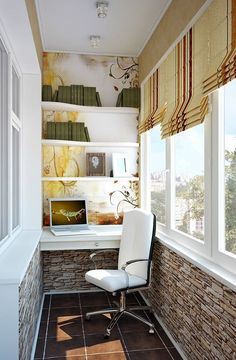 24 Outstanding Balcony Home Office Ideas for Small Spaces Small Balcony Design, Small Balcony Decor, Small Apartments, Small Spaces, Home Office Design, House Design, Apartment Balcony Decorating, Apartment Ideas, Decoration Table