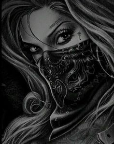 art and sketches Chicano Tattoos, Gangster Tattoos, Body Art Tattoos, Sleeve Tattoos, Cool Tattoos, Skull Tattoos, Tattoo Gesicht, Tattoo Drawings, Art Drawings