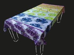 Dit vrolijke tafelkleed heeft zes verschillende fruit soorten in de kleuren van de regenboog. De kleuren van het fruit zijn prachtig helder. De achtergrond van iedere fruit soort heeft de zachte kleur van het fruit. Dit tafelkleed wordt persoonlijk voor u gedrukt. Kies een standaard product of laat het maken in uw persoonlijke maat en kleuren. Het tafelkleed wordt hoogwaardig bedrukt op 246 gr/m2 stof van 100% katoen. Levertijd 4 a 5 weken.