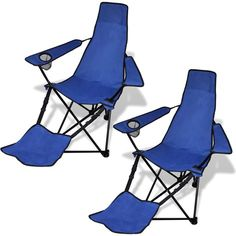 Bon New 2 Pcs Foldable Outdoor Camping Chair Footrest Lightweight Portable 3  Colours