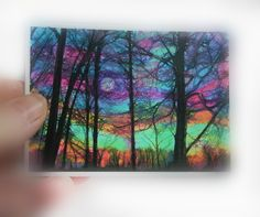 A personal favorite from my Etsy shop https://www.etsy.com/listing/257087725/winter-moon-rising-aceo-original-250x350