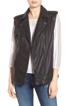 Shop the Treasure&Bond Relaxed Leather Moto Vest from the Nordstrom Anniversary Sale on Keep!